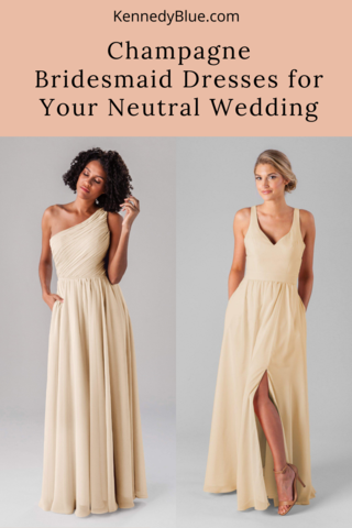 Champagne Bridesmaid Dresses for Your Neutral Wedding