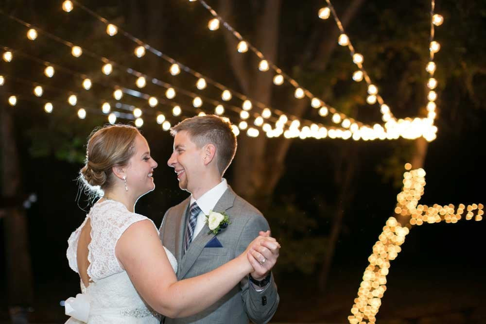 What a romantic outdoor wedding with such beautiful lighting! | Fun Ideas for Your Dream Outdoor Wedding | Kennedy Blue