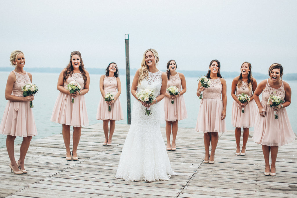 Cute photo of bridesmaids spacing themselves out! | 26 Photos To Take With Your 'Maids | Kennedy Blue | Ali Kvidt Photography