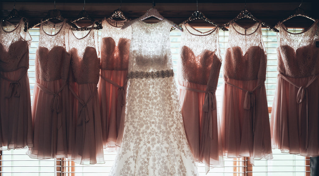 When choosing your bridesmaid dresses, make sure to consider your bridal gown too! | How to Make Bridesmaid Dress Shopping Less Stressful | Kennedy Blue