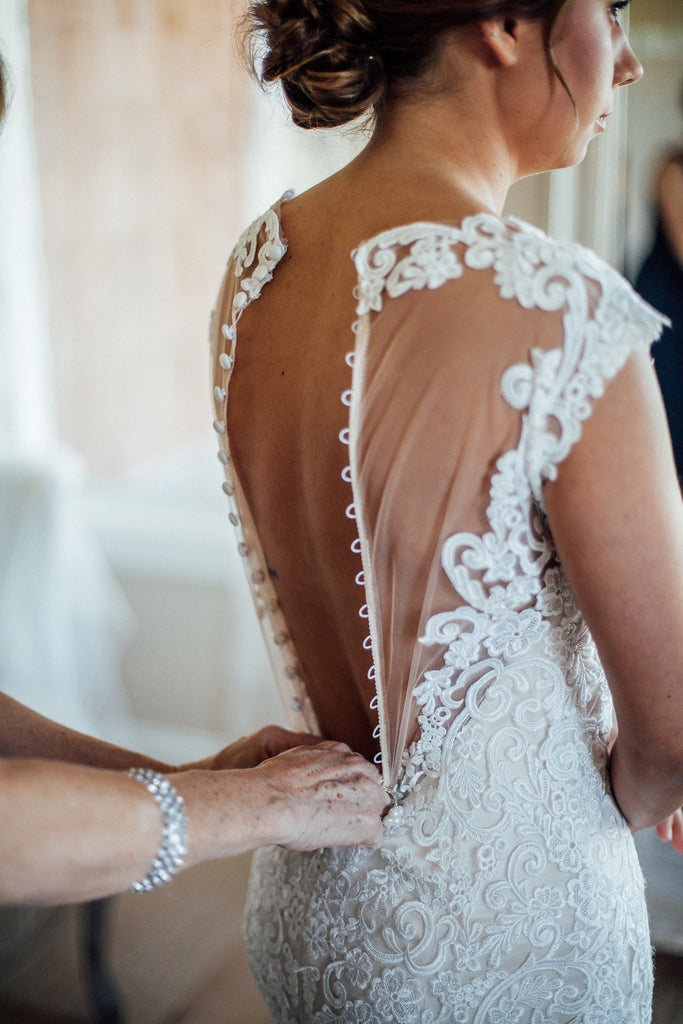 Wedding-Dress-Back-Detail-Button-Up-Emily-Caleb-Featured-BrideStory-Real-Wedding