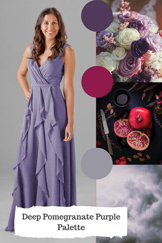 violet dress for dusty purple wedding