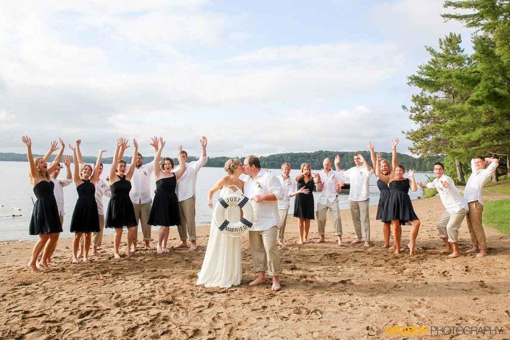 A super cute outdoor beach wedding featuring Kennedy Blue styles Audrey, Addison, and Megan | Fun Ideas for Your Dream Outdoor Wedding | Kennedy Blue