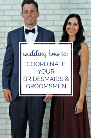 From suit styles, designers, colors, and whether to buy or rent your tuxedo or suit, we have you covered on the best way to coordinate your men and 'maids! | Your Guide to Perfectly Matching Your Bridesmaids and Groomsmen | Kennedy Blue