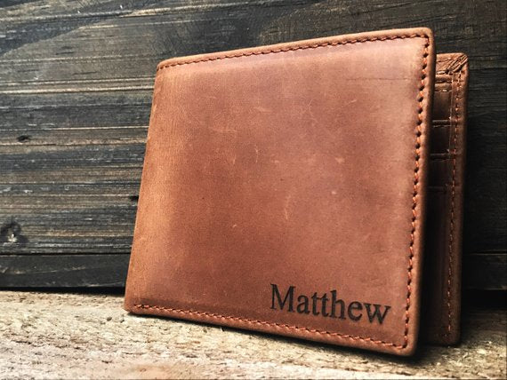 personalized leather wallet | 16 Best Man Gift Ideas from the Groom