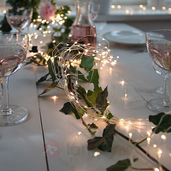 Kennedy blue budget-friendly wedding decorations fairy lights