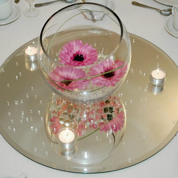 Kennedy blue budget-friendly wedding decorations mirrors
