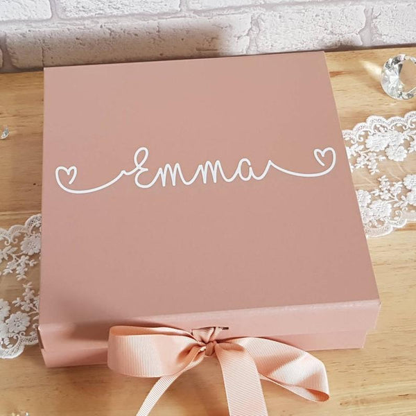 personalized gift box | bridesmaid gift ideas Kennedy Blue