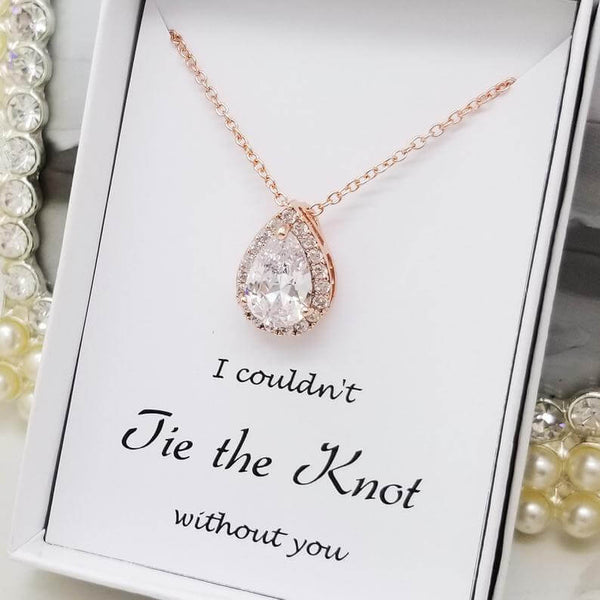 pendant necklace for bridesmaids | bridesmaid gift ideas Kennedy blue