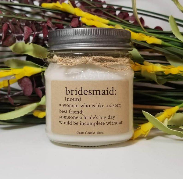 bridesmaid candle | bridesmaid gift ideas Kennedy blue