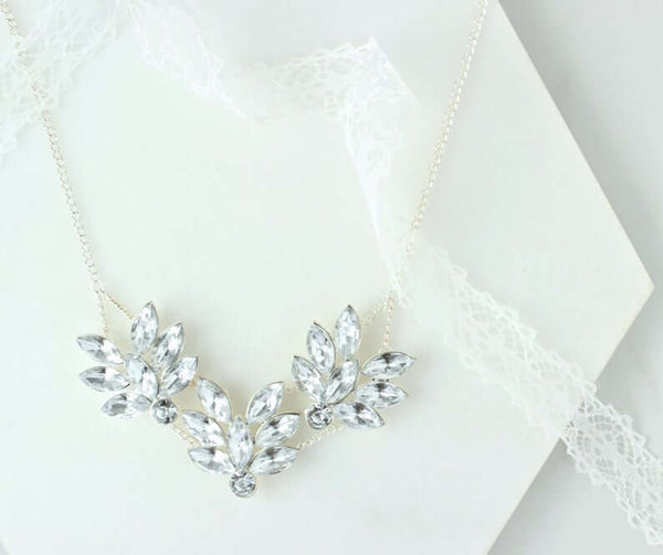 crystal statement necklace | bridesmaid gift ideas Kennedy blue