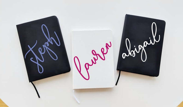 personalized notebooks for bridesmaids | bridesmaid gift ideas Kennedy blue