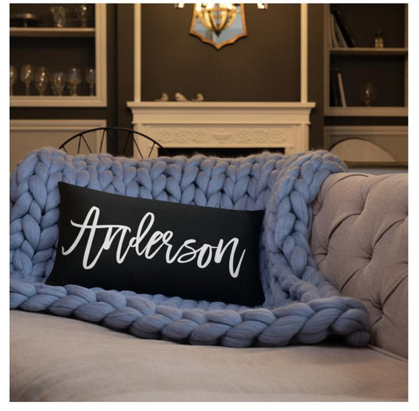 personalized throw pillow | bridesmaid gift ideas Kennedy Blue