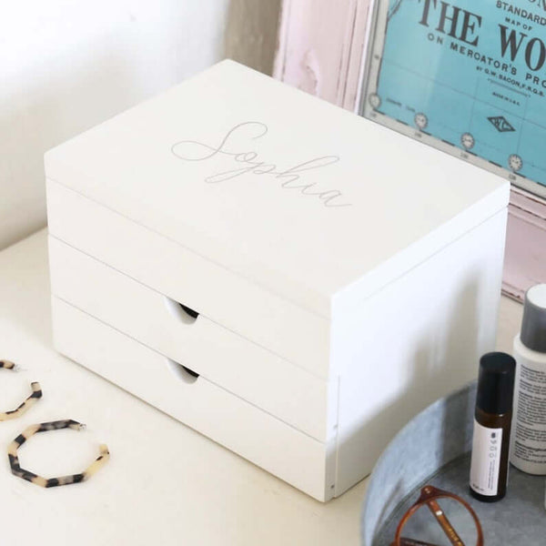 personalized jewelry box | bridesmaid gift ideas Kennedy Blue