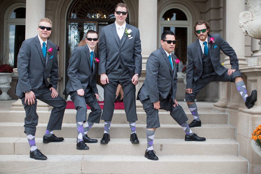 Spice up your man's wedding attire with some fun, argyle socks. | A Romantic Jewel-Tone Wedding