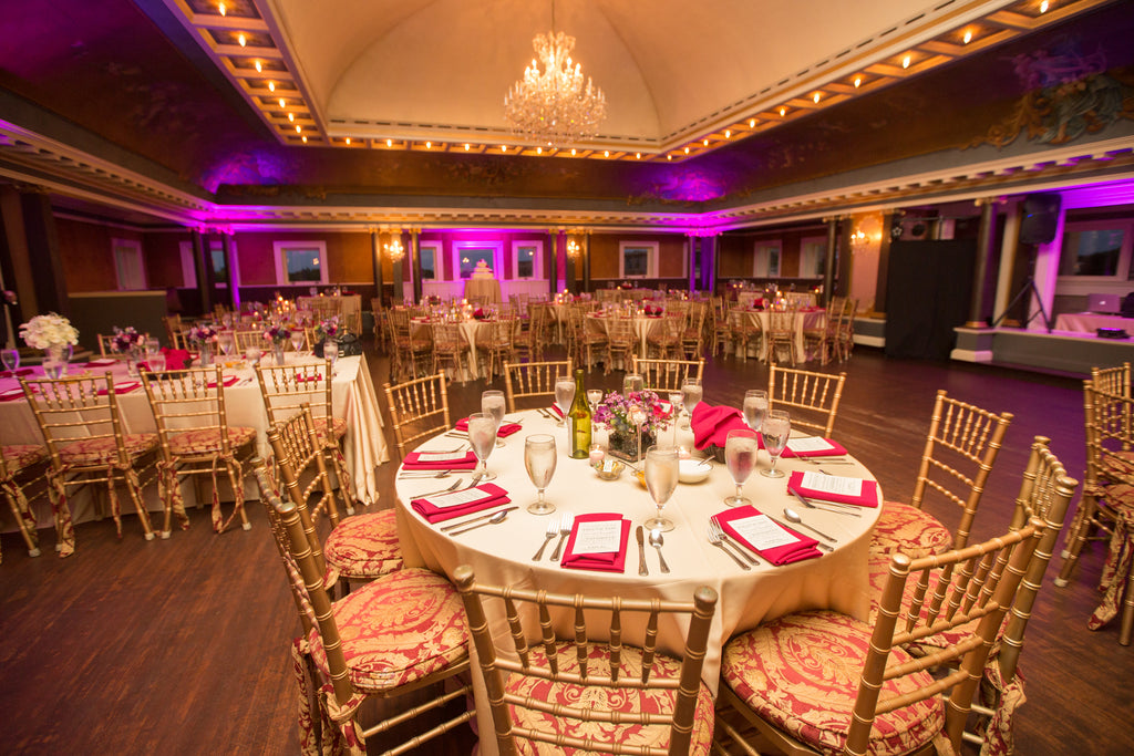 Semple Mansion's ballroom is perfect for a formal wedding reception. | A Romantic Jewel-Tone Wedding