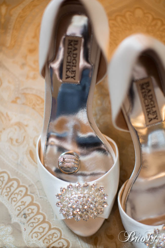 Badgley Mischka bridal shoes are perfect for a wedding! | A Romantic Jewel-Tone Wedding
