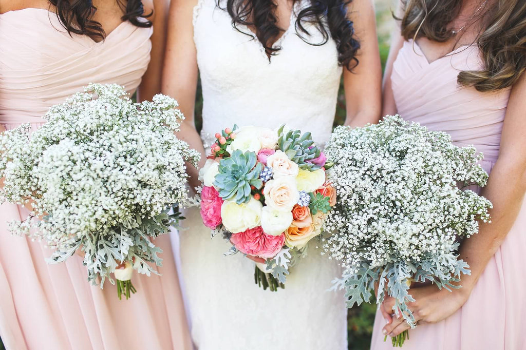 Kennedy Blue bridesmaid dresses in blush. | A Whimsical Autumn Wedding | See the full gallery here!