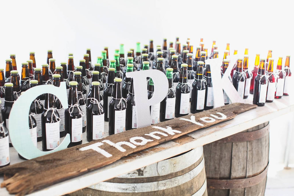 Homemade beer as wedding favors! | A Whimsical Autumn Wedding | See the full gallery here!