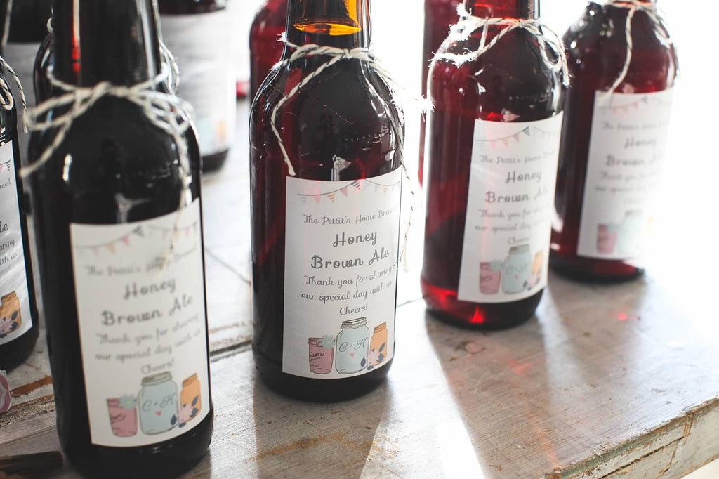 Home brewed beer makes for a great wedding favor! | A Whimsical Autumn Wedding | See the full gallery here!