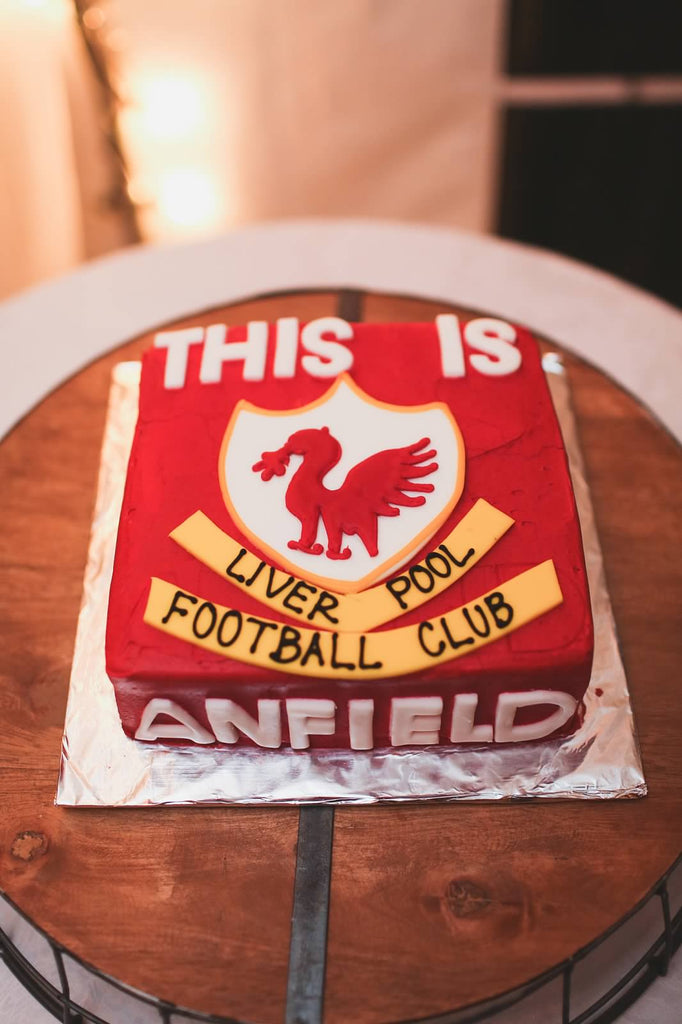 A Liverpool themed groom's cake! | A Whimsical Autumn Wedding | See the full gallery here!
