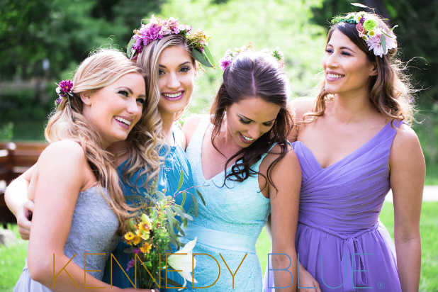 A beautiful spring pastel outdoor wedding featuring floral crowns | Fun Ideas for Your Dream Outdoor Wedding | Kennedy Blue