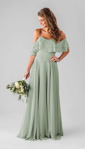 Allison Sage Green Bridesmaid Dress Kennedy Blue