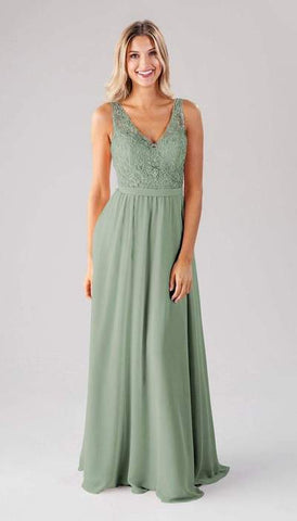 Betsy Sage Green Bridesmaid Dress
