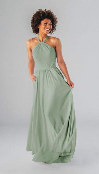 Caroline Sage Green Bridesmaid Dress Kennedy Blue