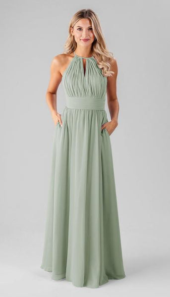 Bailey Sage Green Bridesmaid Dress Kennedy Blue