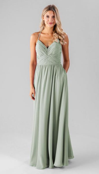 Caitlin Sage Green Bridesmaid Dress Kennedy Blue