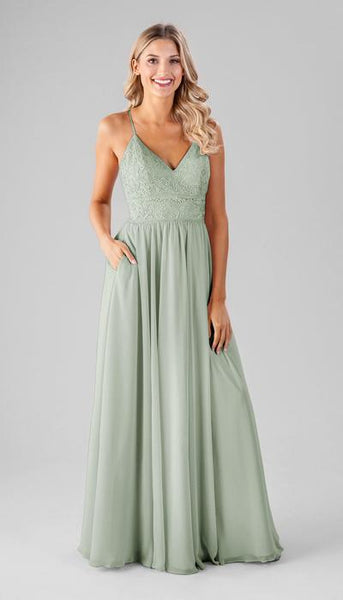 Cameron Sage Green Bridesmaid Dress Kennedy Blue
