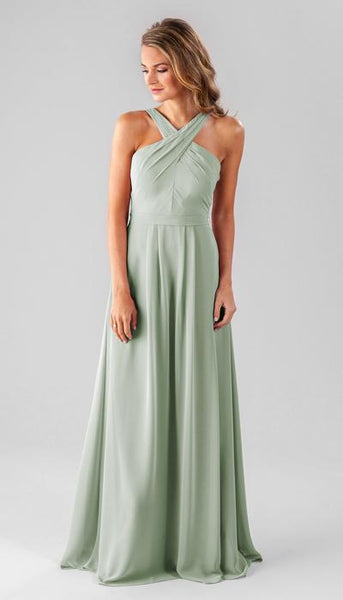 Elena Sage Green Bridesmaid Dress Kennedy Blue