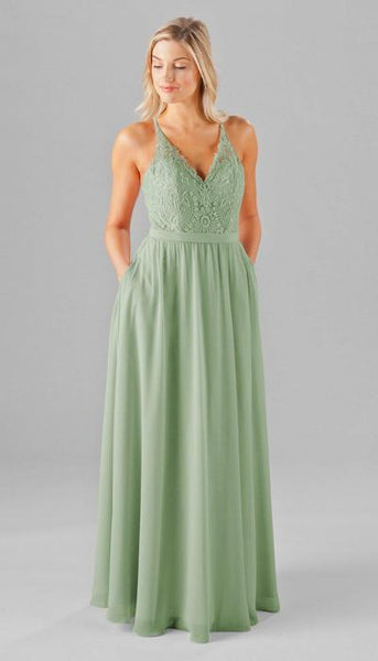 Iris Sage Green Bridesmaid Dress Kennedy Blue