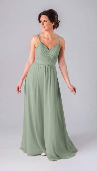 Mackenzie Sage Green Bridesmaid Dress Kennedy Blue
