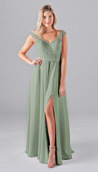 Morgan Sage Green Bridesmaid Dress Kennedy Blue