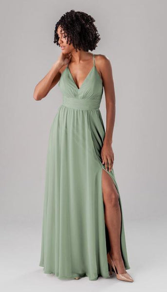 Ryan Sage Green Bridesmaid Dress Kennedy Blue