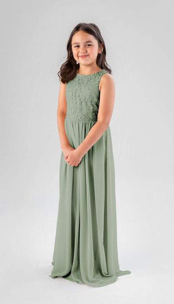 Keaton Sage Green Junior Bridesmaid Dress Kennedy Blue
