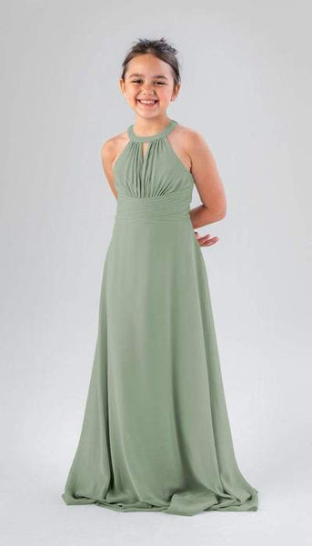 Lanie Sage Green Junior Bridesmaid Dress Kennedy Blue