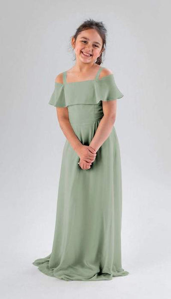 Nica Sage Green Junior Bridesmaid Dress Kennedy Blue