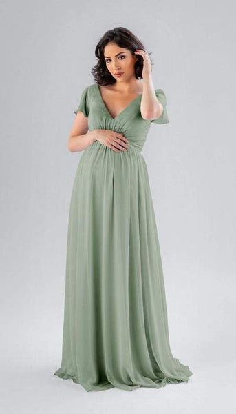 Kayli Sage Green Maternity Bridesmaid Dress Kennedy Blue