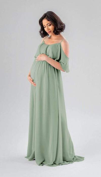 Krystal Sage Green Maternity Bridesmaid Dress Kennedy Blue