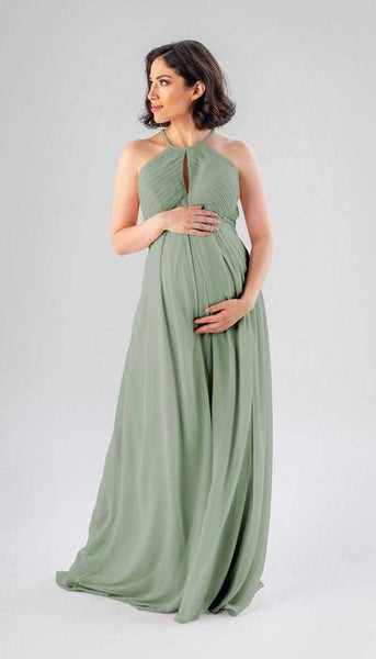 Lacey Sage Green Maternity Bridesmaid Dress Kennedy Blue