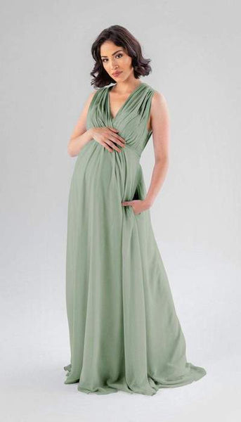 Misty Sage Green Maternity Bridesmaid Dress Kennedy Blue