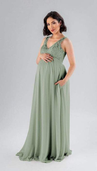 Palmer Sage Green Maternity Bridesmaid Dress Kennedy Blue