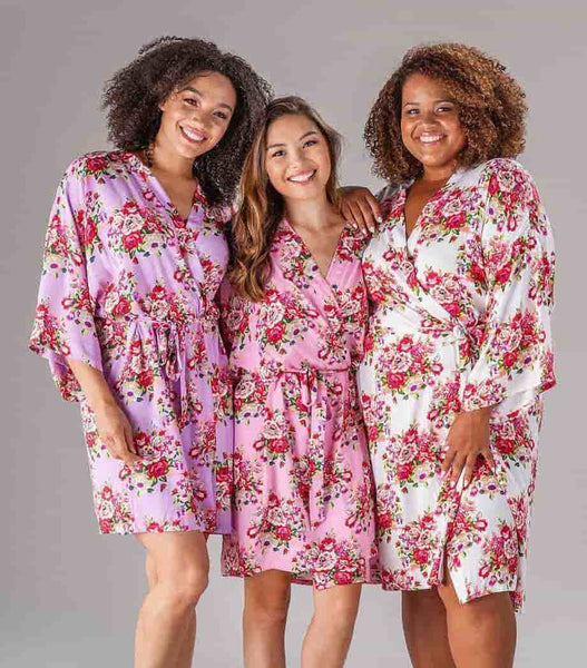 Kennedy Blue Bridesmaid Robe Long Floral