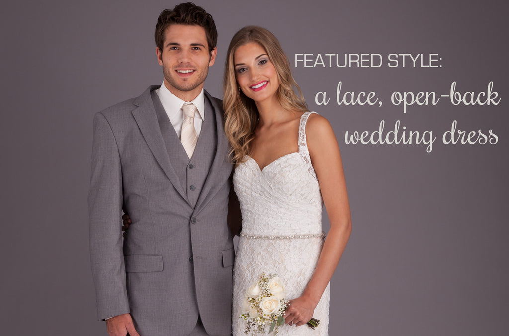 Featured Style: A Lace, Open-Back Wedding Dress