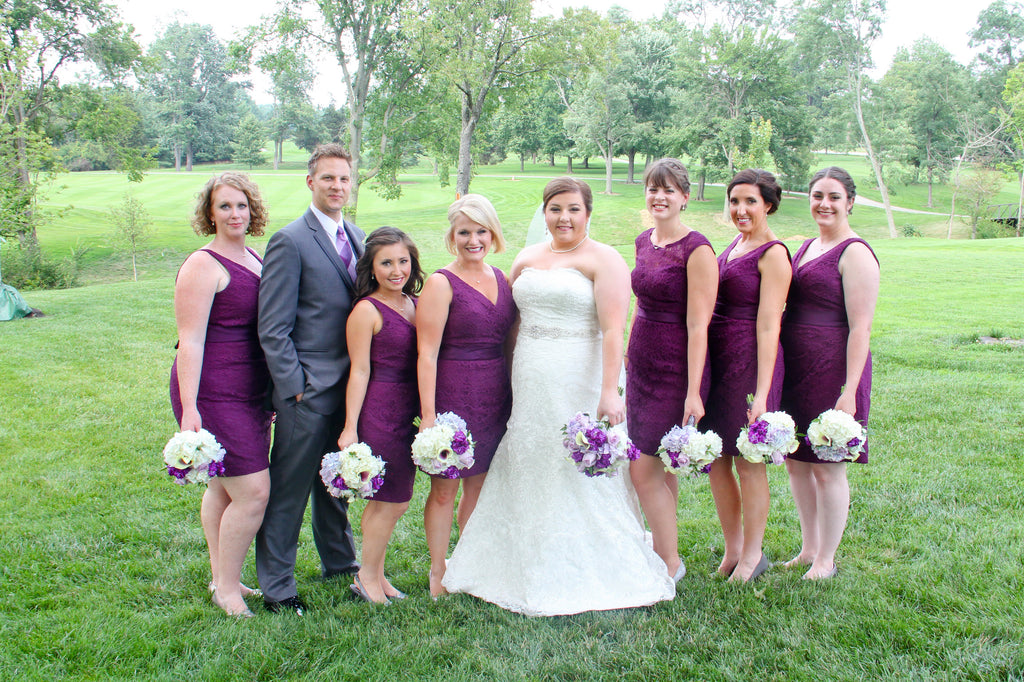 Eggplant Lace Bridesmaid Dresses