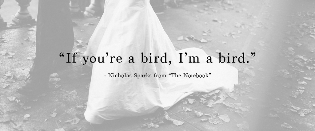 """If you're a bird, I'm a bird."" 