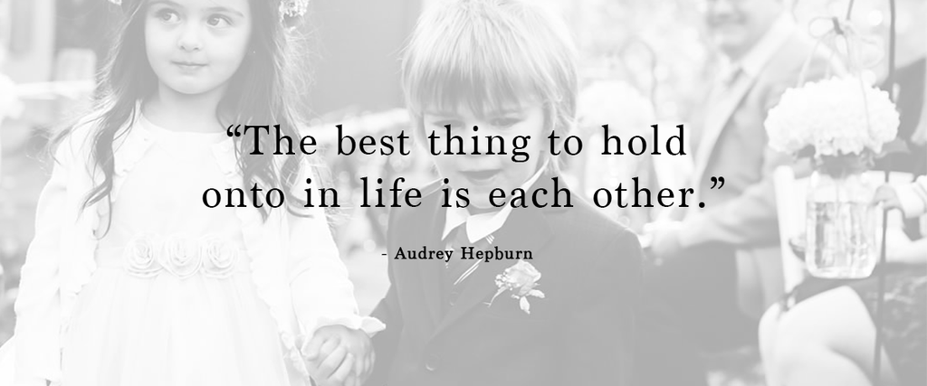 """The best thing to hold onto in life is each other."" 